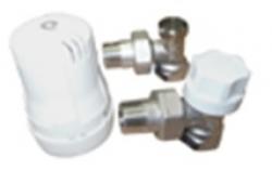 """набор вентилей для подключения радиаторов с термостатической головкой 1/2"""" угловой comisa"""