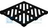 Решетка водоприемная Gidrolica Point РВ - 28,5.28,5 - чугунная шелевая, кл. С250