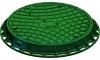Люк канализационный Gidrolica Garden - пластиковый тип Л зеленый