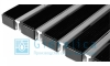 Придверная решетка Gidrolica Step - резина+скребок 390х590мм
