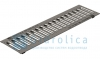 Решетка водоприемная Gidrolica Standart РВ - 10.13,6.50 - штампованная стальная оцинкованная, кл. А15