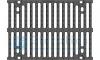 Решётка чугунная для тяжёлых нагрузок DN300, 500/347/25, 16/148, кл. F900