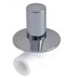 Вентиль хром. под штукатурку (люкс) ф 20 PPR белый полипропилен Политэк