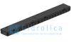 Комплект Gidrolica Light New: лоток водоотводный ЛВ -10.11,5.5,5 - пластиковыйс решеткой РВ- 10.11.50 пластиковой ячеистой, кл. A15